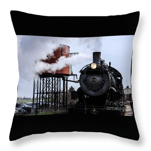 Trains Throw Pillow featuring the photograph Strausburg by William Rogers