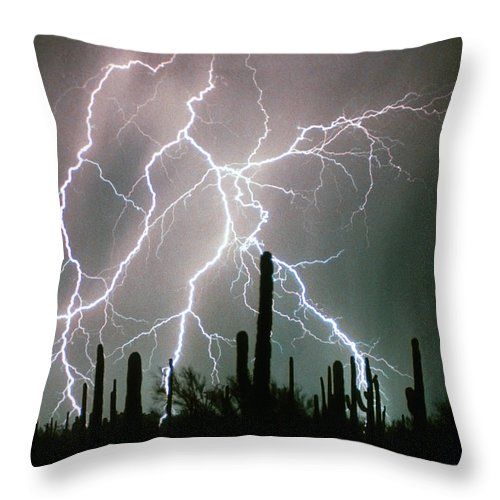 Lightning Throw Pillow featuring the photograph Striking Photography by James BO Insogna