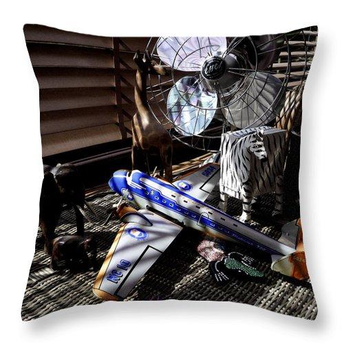 Still Life Throw Pillow featuring the photograph Suburban Safari by Charles Stuart