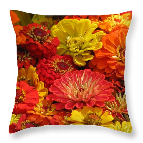 Flower Throw Pillow featuring the photograph Summer Color by Alfred Ng