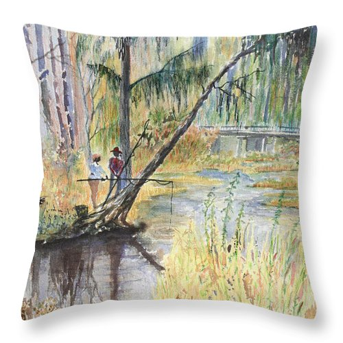 Low Country Throw Pillow featuring the painting Summertime by Ben Kiger