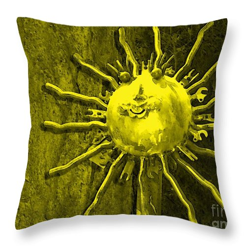 Sun Throw Pillow featuring the photograph Sun Tool by Debbi Granruth