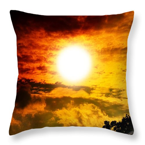 Weather Throw Pillow featuring the photograph Sunlight by Flavien Gillet
