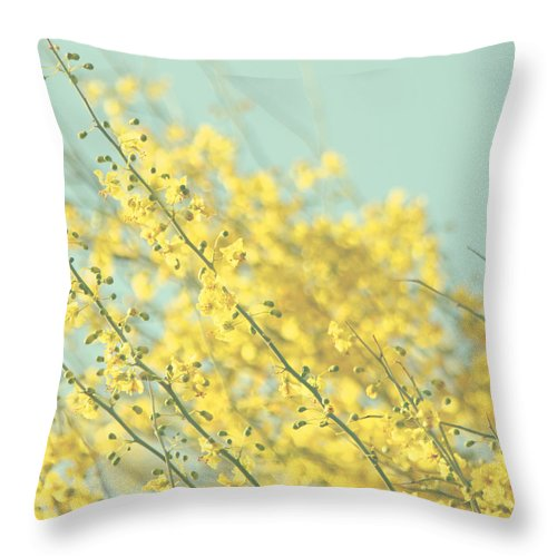 Throw Pillow featuring the photograph Sunny Blooms 3 by Sylvia Coomes