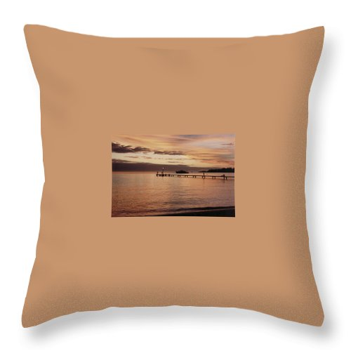 Sunset Throw Pillow featuring the photograph Sunset In Paradise by Mary-Lee Sanders