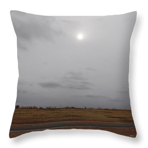 Desert Throw Pillow featuring the photograph Sunset In The Desert by Rob Hans