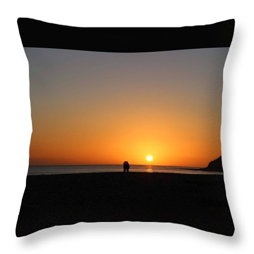 Throw Pillow featuring the photograph Sunset by Kerry Drew