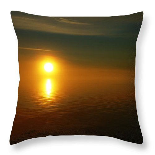 Sunset Throw Pillow featuring the photograph Sunset... by Nina Stavlund