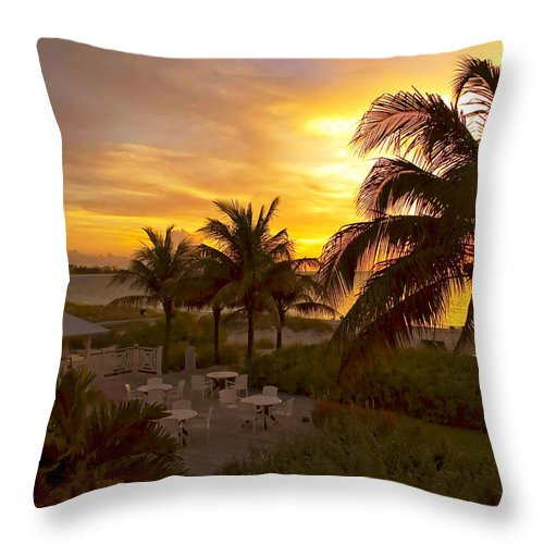 Sunset Throw Pillow featuring the photograph Sunset On Grace Bay by Stephen Anderson