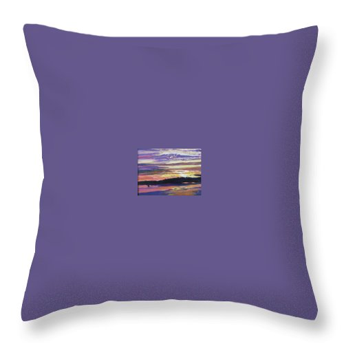 Sunset Throw Pillow featuring the painting Sunset by Richard Nowak