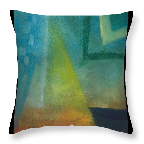 Sunset Throw Pillow featuring the painting Sunset Sail by Tim Nyberg