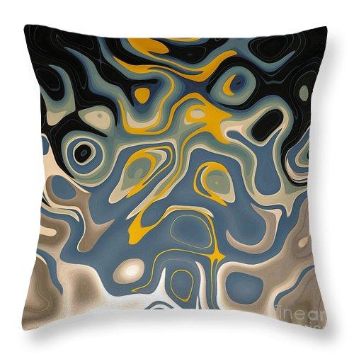 Abstract Digital Painting Fortuna's Digital Art Throw Pillow featuring the digital art Suspicion by Dragica Micki Fortuna