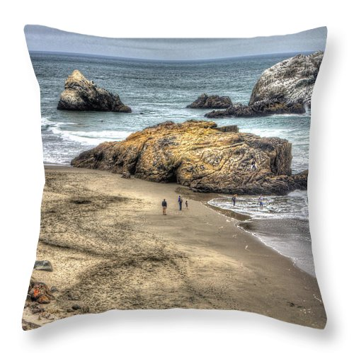 San Francisco Throw Pillow featuring the photograph Ocean Beach by SC Heffner