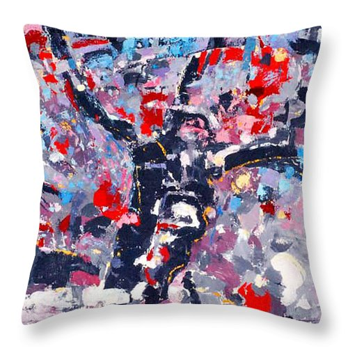 Abstraction Throw Pillow featuring the painting Symphony No 8 Movement 22 Vladimir Vlahovic- Images Inspired By The Music Of Gustav Mahler by Vladimir Vlahovic