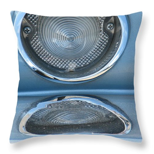 Corvette Throw Pillow featuring the photograph Taillight Reflections by Kelly Mezzapelle