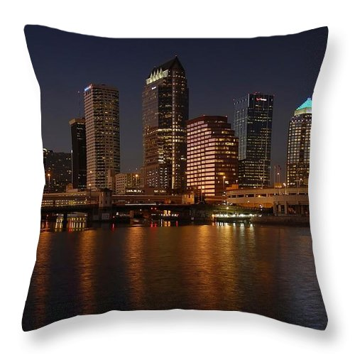 Tampa Throw Pillow featuring the photograph Tampa Florida by David Lee Thompson