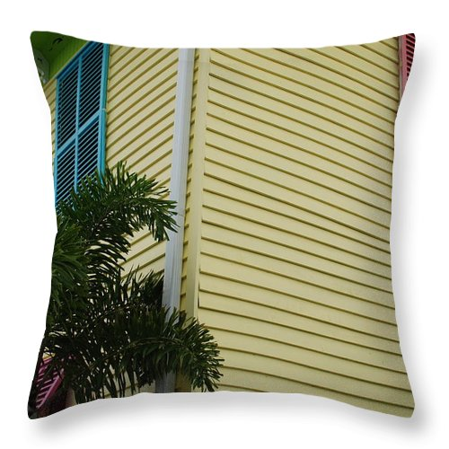 Architecture Throw Pillow featuring the photograph The Beach House by Rob Hans