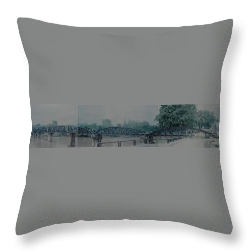 Bridge Throw Pillow featuring the photograph The Bridge On The River Kwai by Rob Hans