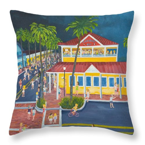 Atlantic Beach Throw Pillow featuring the painting The Corner by Blaine Filthaut