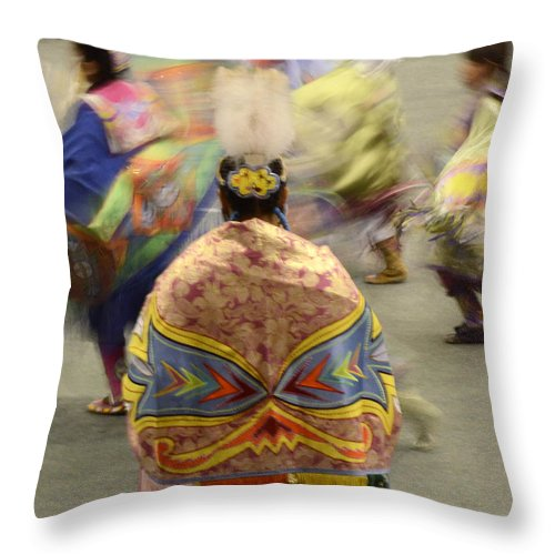 Pow Wow Throw Pillow featuring the photograph Pow Wow The Dance 4 by Bob Christopher
