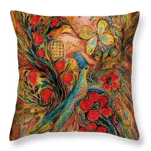 Original Throw Pillow featuring the painting The Dream by Elena Kotliarker