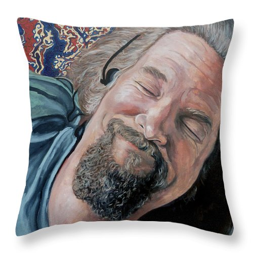 Dude Throw Pillow featuring the painting The Dude by Tom Roderick