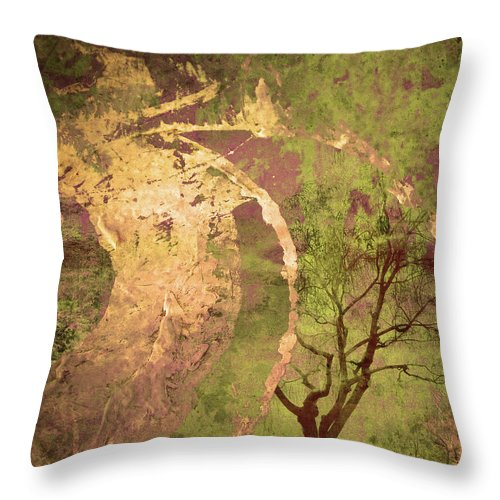 Tree Throw Pillow featuring the photograph The Fallen by Tara Turner