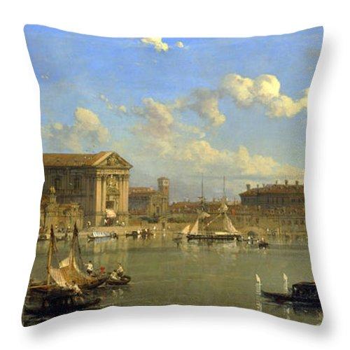 David Roberts Throw Pillow featuring the painting The Giudecca. Venice by David Roberts