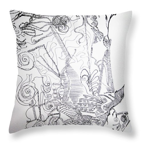 Tilesjesus Elohimplaquesmamamama Africa Twojesus Throw Pillow featuring the drawing The Good Shepherd by Gloria Ssali