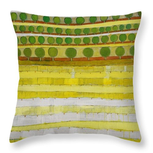 Abstract Throw Pillow featuring the painting The Great Loss by Habib Ayat