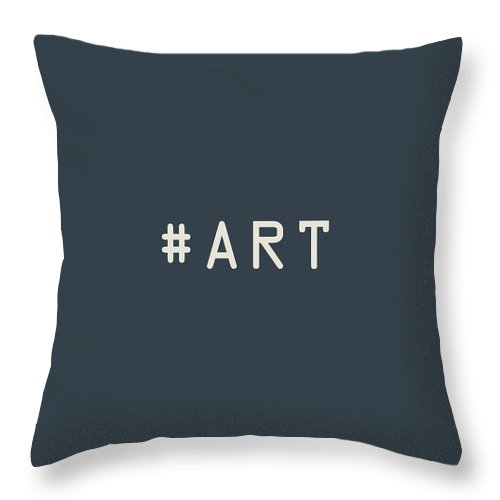 The Meaning Of Art By Serge Averbukh Throw Pillow featuring the photograph The Meaning of Art - Hashtag by Serge Averbukh