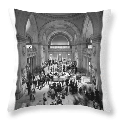 Metropolitan Throw Pillow featuring the photograph The Metropolitan Museum Of Art by Mike McGlothlen
