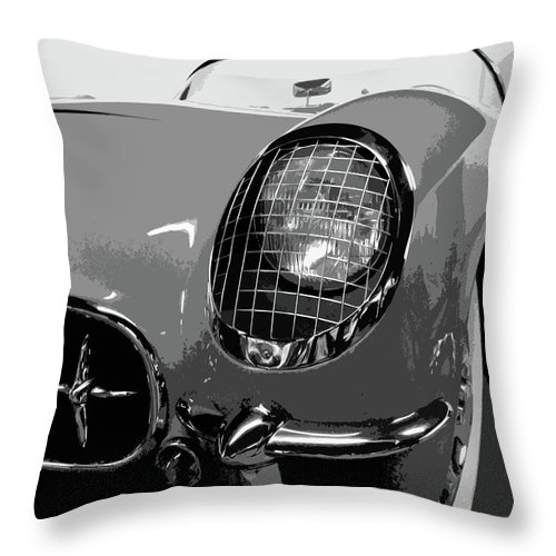 Autos Throw Pillow featuring the photograph The Original Vette by Dick Goodman