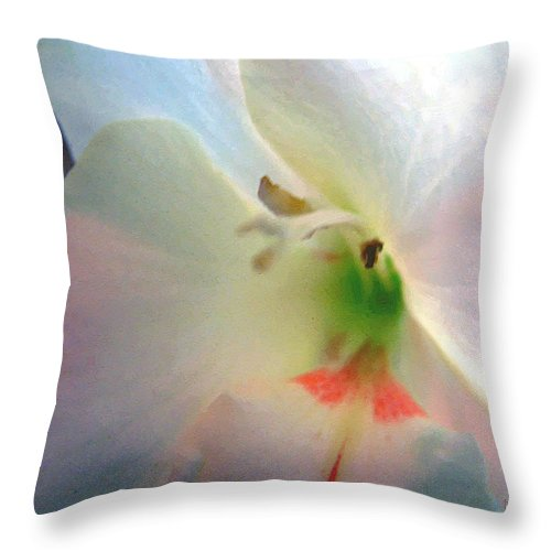 Blue Throw Pillow featuring the digital art The Persistence Of Romance by RC DeWinter