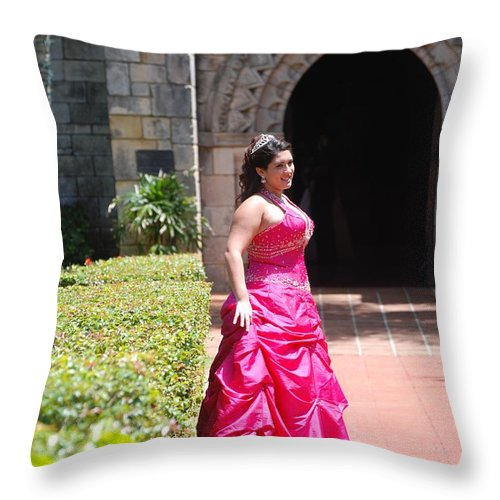 Girl Throw Pillow featuring the photograph The Princess by Rob Hans
