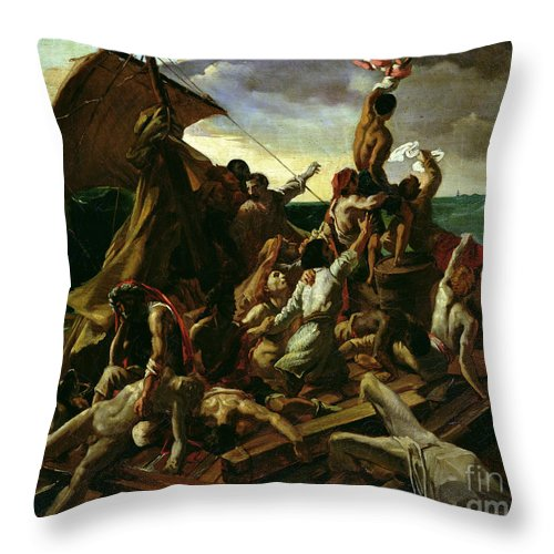 The Raft Of The Medusa Throw Pillow featuring the painting The Raft Of The Medusa by Theodore Gericault