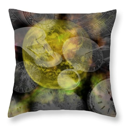 Chaos Throw Pillow featuring the painting The Time Is Out Of Joint by RC DeWinter