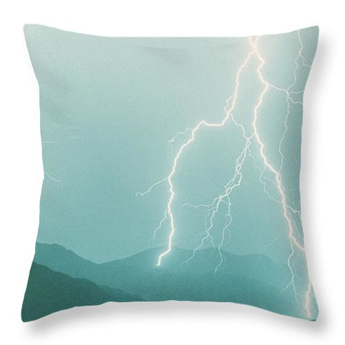 Lightning Throw Pillow featuring the photograph The Walk by James BO Insogna