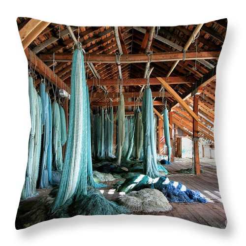 Bella Coola Throw Pillow featuring the photograph Time Warp by Kate McKenna