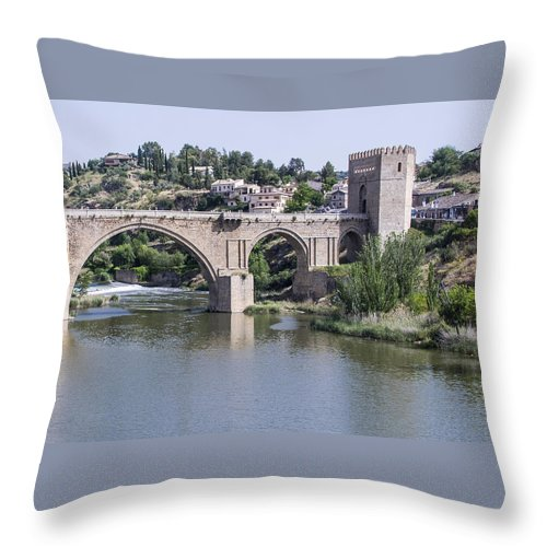 Throw Pillow featuring the photograph Toledo Spain by Jon Berghoff