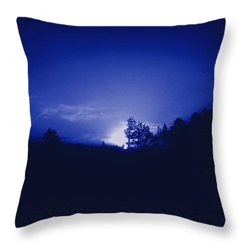 Sky Throw Pillow featuring the photograph Where The Smurfs Live 2 by Max Mullins