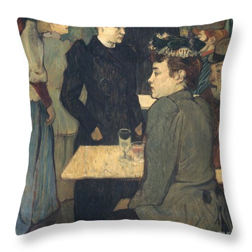 1892 Throw Pillow featuring the photograph Toulouse-lautrec, 1892 by Granger