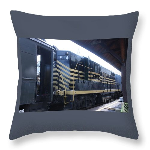 Trains Throw Pillow featuring the photograph Trains by William Rogers