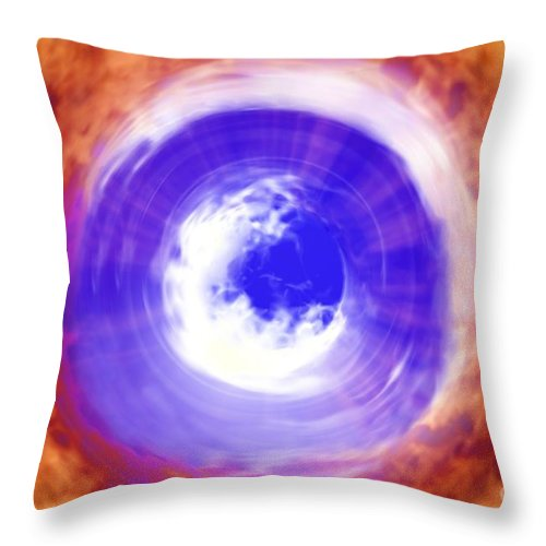 Power Throw Pillow featuring the digital art Transformation by Richard Rizzo