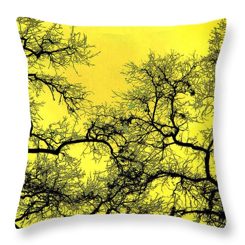 Digital Art Throw Pillow featuring the photograph Tree Fantasy 18 by Lee Santa