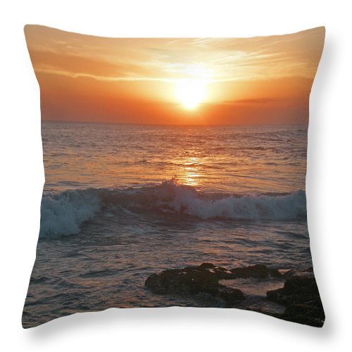 Bali Throw Pillow featuring the photograph Tropical Bali Sunset by Mark Sellers