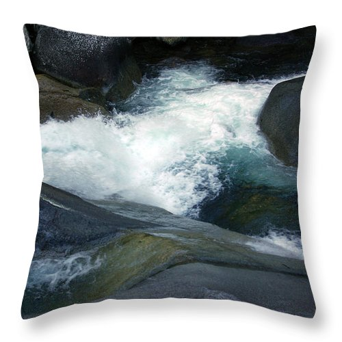 Fineart Throw Pillow featuring the photograph Tropical Flowing Waters Josephine Falls by Kerryn Madsen- Pietsch