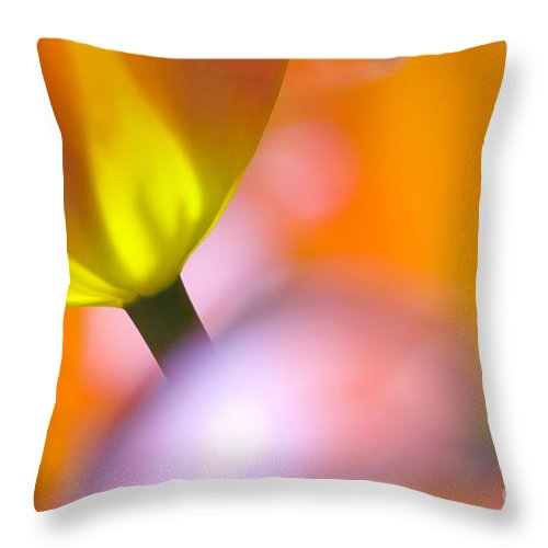 Tulips Throw Pillow featuring the photograph Tulips by Silke Magino