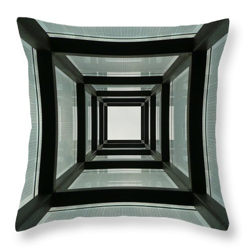 Holocaust Memorial Throw Pillow featuring the photograph Tunnel Vision by Jeff Bord