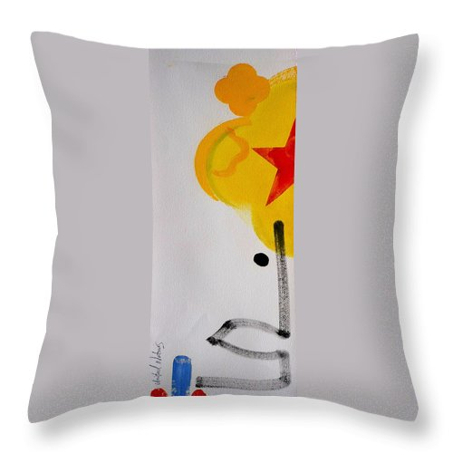 Drawing Throw Pillow featuring the painting UN by Charles Stuart